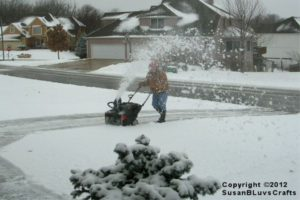 Snow Blowing Driveway