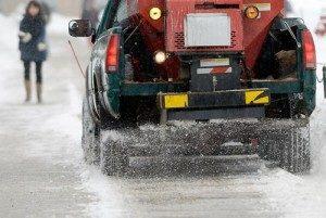 Plow Truck Salting